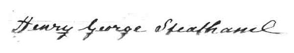 Photo of Henry George Steatham's signature